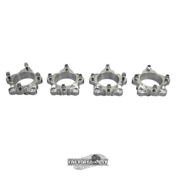 Four-Two Inch Machined Billet Aluminum Wheel Spacers by Factory UTV