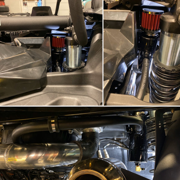 Treal Performance 2017-2020 Can-Am X3 Oil Catch Can / Breather System