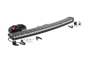 ROUGH COUNTRY 30-INCH CURVED CREE LED LIGHT BAR - (SINGLE ROW | CHROME SERIES)