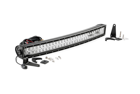 ROUGH COUNTRY 30-INCH CURVED CREE LED LIGHT BAR - (DUAL ROW | CHROME SERIES)