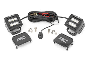 ROUGH COUNTRY 2-INCH SQUARE CREE LED LIGHTS - (PAIR | BLACK SERIES)