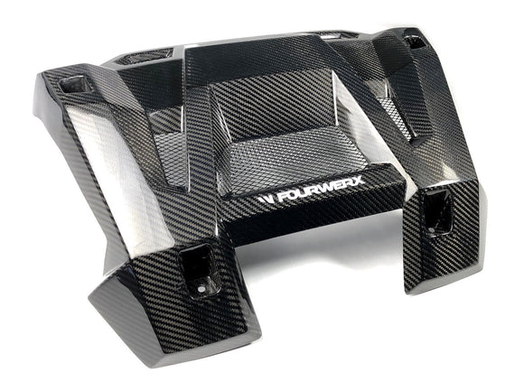 2014+ POLARIS RZR 1000 CARBON FIBER EXHAUST SURROUND - WITH VENTS - by FourWerx