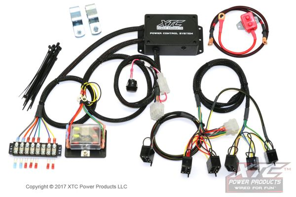 Plug /& Play Six Circuit Wire Harness with Strobe By XTC Power Products PCS-72S-NS Polaris RZRs and UTVs Power Control System with Strobe