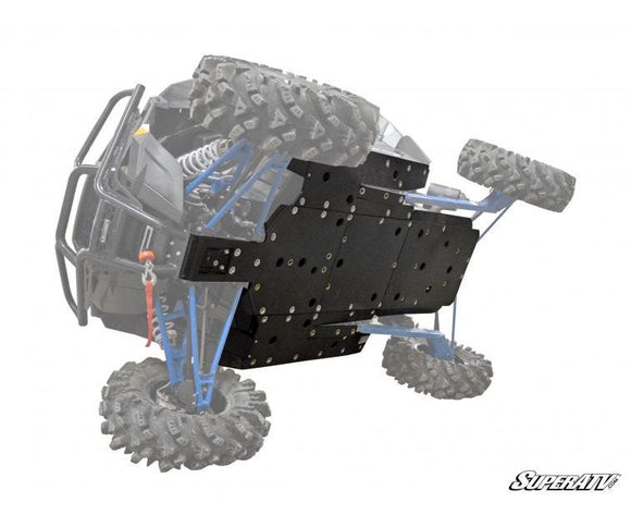 SuperATV Polaris RZR XP Turbo Full Skid Plate