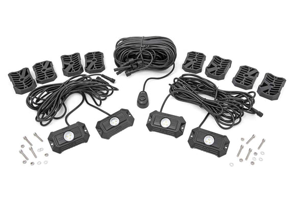 DELUXE LED ROCK LIGHT KIT - 4 PODS BY ROUGH COUNTRY