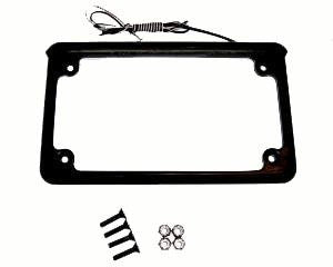 "XTC 6"" 6 LED License plate Frame - Black"