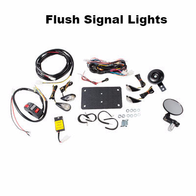 ATV Street Legal Kit With Mirror and Flush Lights by Tusk