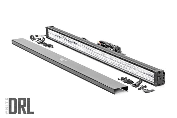 ROUGH COUNTRY 50-INCH CREE LED LIGHT BAR - (DUAL ROW | CHROME SERIES W/ COOL WHITE DRL)