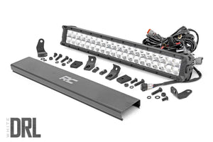 ROUGH COUNTRY 20-INCH CREE LED LIGHT BAR - (DUAL ROW | CHROME SERIES W/ COOL WHITE DRL)