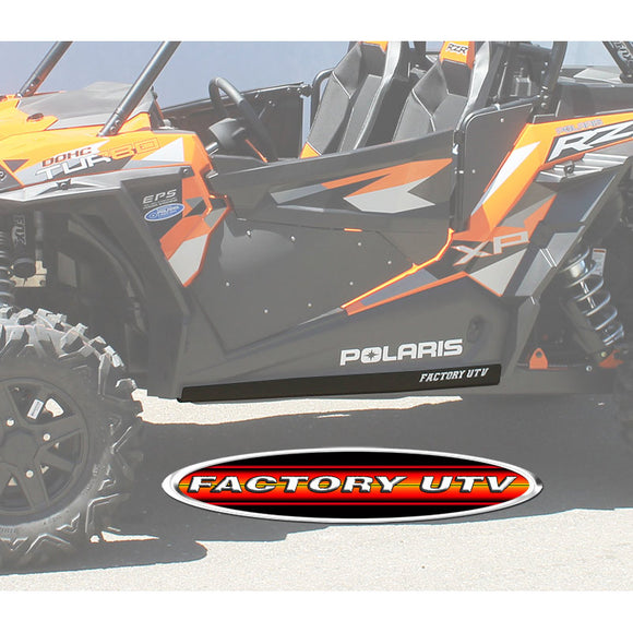 Polaris RZR XP Turbo UHMW Rock Sliders by Factory UTV (FUTV)