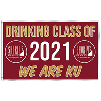 DRINKING CLASS OF 2021 WE ARE KU 3'x5' Flag