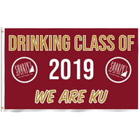 Drinking Class of 2019 WE ARE KU 3'x5' Flag