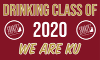 Drinking Class of 2020 WE ARE KU 3'x5' Flag