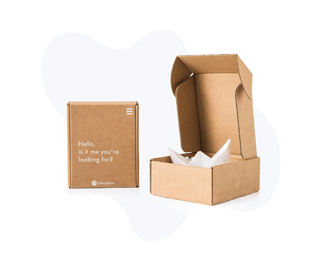 White-On-Kraft Mailer Box
