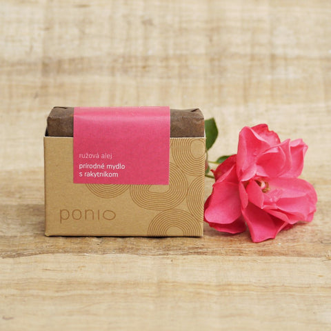 Pink alley with seabuckthorn - natural soap
