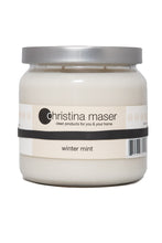 Load image into Gallery viewer, Christina Maser Co. Winter Mint Soy Wax Candle 16 oz glass jar.