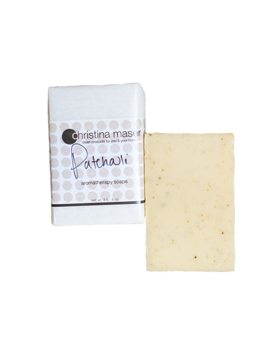 Patchouli vegan bar soap. Handmade in Lancaster, PA with all natural ingredients and scented with essential oils.