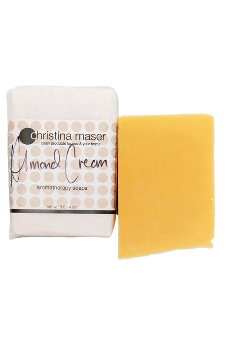 Photo of almond cream vegan soap bar by Christina Maser