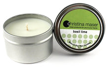 Load image into Gallery viewer, Christina Maser Co. Basil Lime Soy Wax Candle 6 oz. metal tin
