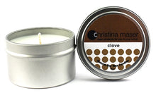 Load image into Gallery viewer, Christina Maser Co. Clove Soy Wax Candle 6 oz metal tin.