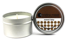 Load image into Gallery viewer, Christina Maser Co. Sweet Italy Soy Wax Candle 6 oz metal tin.