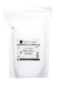 Concentrated powdered vegan laundry soap refill bag. Unscented is perfect for baby laundry or sensitive skin. High efficiency compatible.