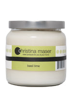 Load image into Gallery viewer, Christina Maser Co. Basil Lime Soy Wax Candle 16 oz. glass jar