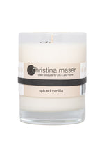 Load image into Gallery viewer, Christina Maser Co. Spiced Vanilla Soy Wax Candle 10 oz glass tumbler.