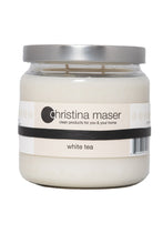 Load image into Gallery viewer, Christina Maser Co. White Tea Soy Wax Candles 16 oz glass jar.