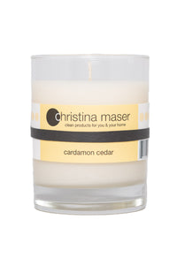 Christina Maser Co. Cardamom Cedar Soy Wax Candle 10 oz. glass tumbler