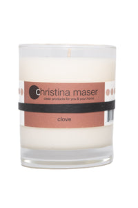 Christina Maser Co. Clove Soy Wax Candle 10 oz. tumbler.