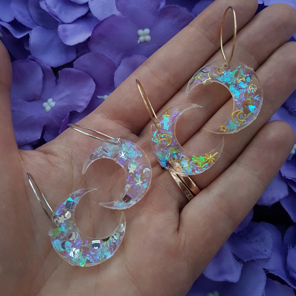 sparkly-moon-hoops