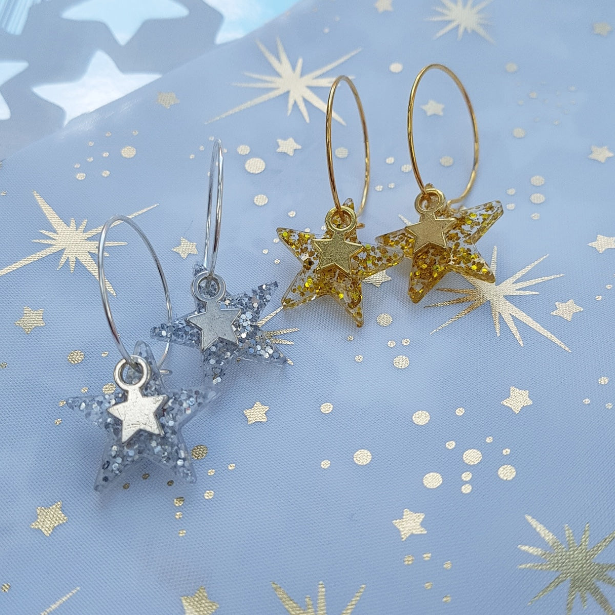 gold-and-silver-star-hoops