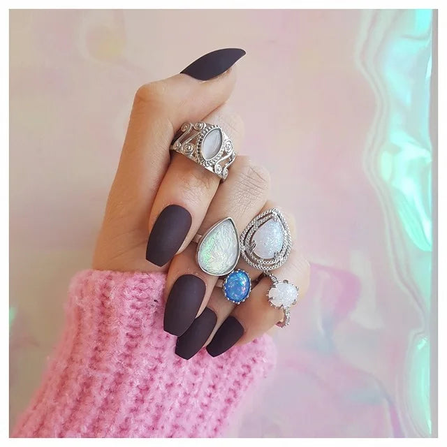 silver-opal-ring-collection
