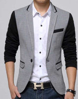 Mens Casual One Button Short Blazer Jacket - The Updated Ones