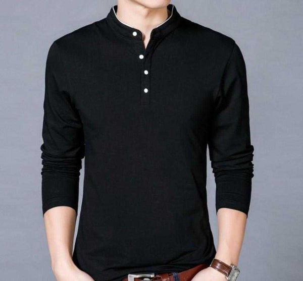 Mens Stand Collar Top - The Updated Ones