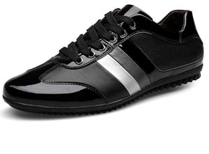 Mens Casual Lace Up Vegan Leather Shoes with Stripe - The Updated Ones
