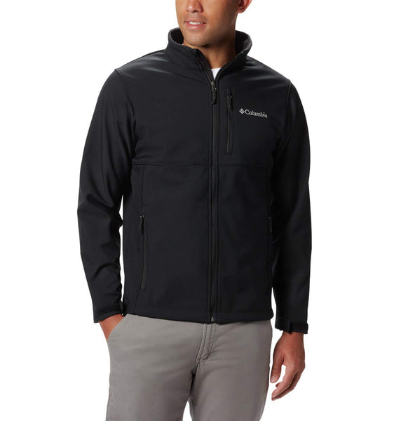 Columbia Men's Ascender Softshell Front-Zip Jacket, Black, 3X - The Updated Ones