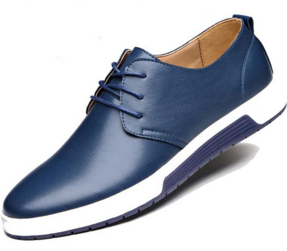 Mens Street Style Casual Leather Shoes in Blue - The Updated Ones