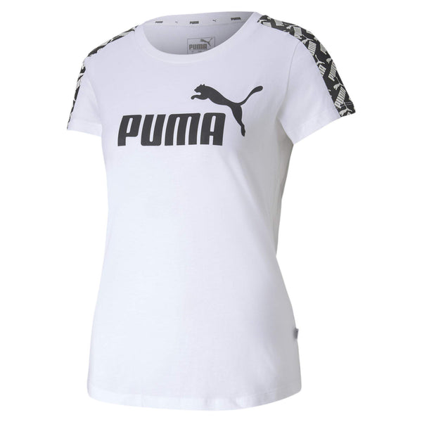 PUMA Women's Amplified T-Shirt, White, L - The Updated Ones