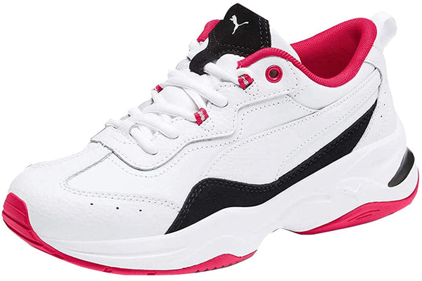 PUMA Women's Cilia Sneaker, White Black-red Rose Silver, 6 M US - The Updated Ones