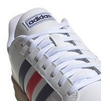 adidas mens Grand Court Tennis Shoe, White/Trace Blue/Active Red, 10.5 US - The Updated Ones