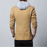 Mens Street Style Hooded Blazer in Khaki - The Updated Ones
