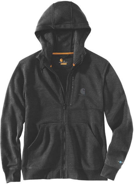 Carhartt Men's Big & Tall Force Relaxed Fit Midweight Full-Zip Sweatshirt, Black Heather, 3X-Large - The Updated Ones