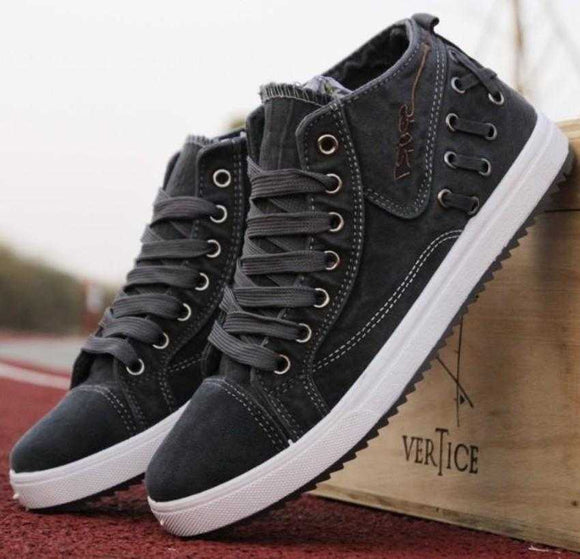 Men's Casual Lace Up Denim Sneakers - The Updated Ones