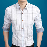 Men's Plaid Button Down Shirt in White - The Updated Ones