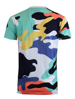 SCREENSHOT-S11076 Mens Urban Premium Hipster Streetwear Tee - Modern Melting Ice Cone Cartoon Camo Pattern Print T-Shirt-White-Medium - The Updated Ones