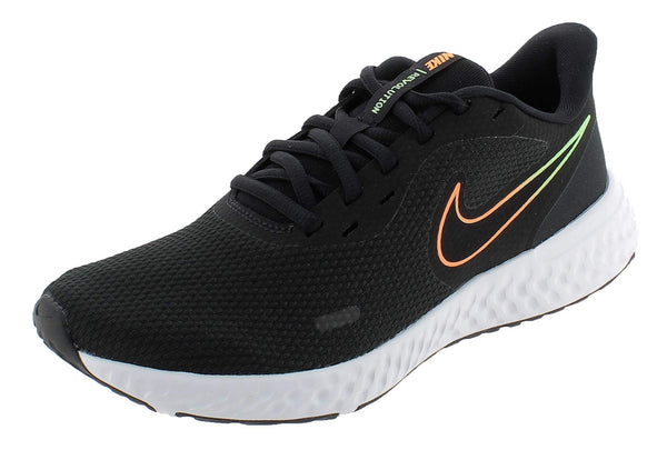 Nike Men's Stroke Running Shoe, Black Atomic Orange Obsidian White Lime Glow, 7.5 US - The Updated Ones