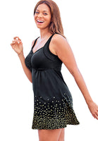 Swimsuits For All Women's Plus Size Retro Swim Dress Swimsuit - 14, Black Dot - The Updated Ones