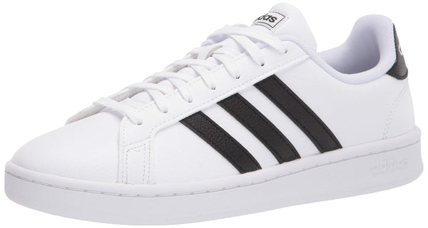 adidas womens Grand Court Sneaker, White/Black/White, 7.5 US - The Updated Ones